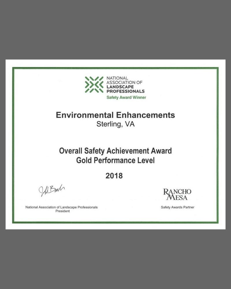 landscaping safety award ee