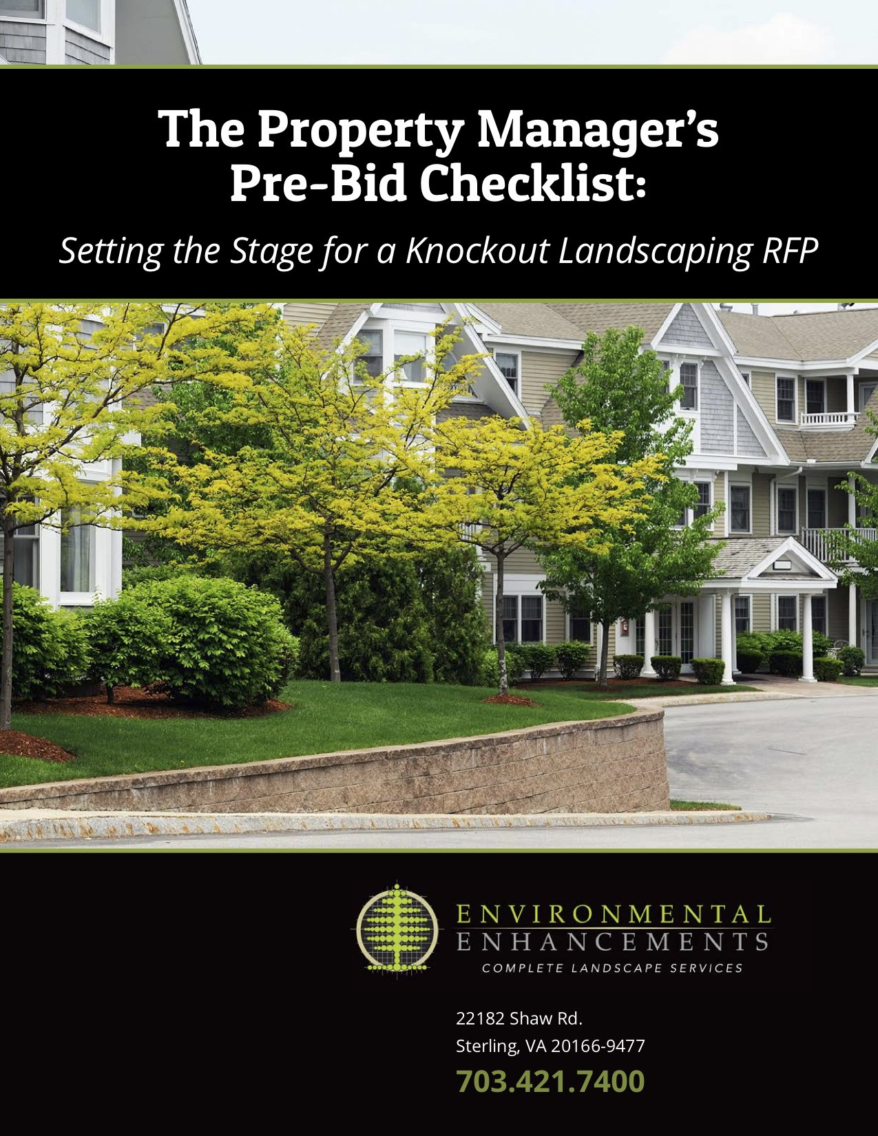 landscaping gardener checklist for property managers